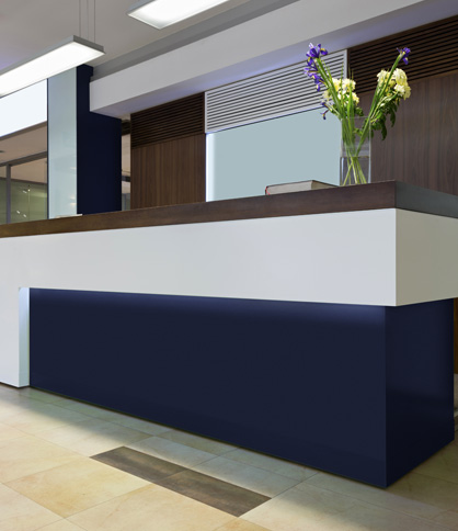 DuPong Corian Solid Surfaces Hotel Lobby