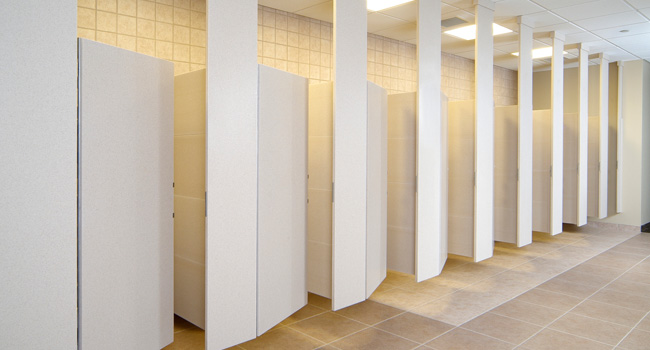 DuPont Privacy Plus Partitions Stalls