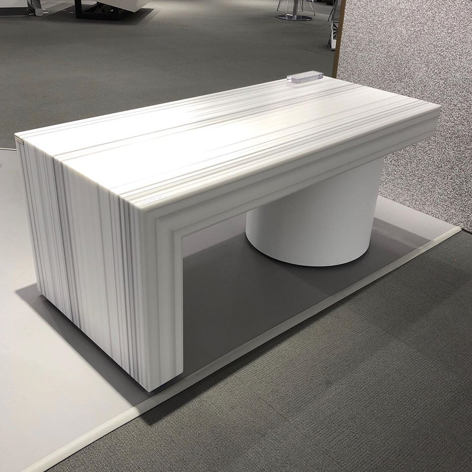 Bench with Corian Solid Surface